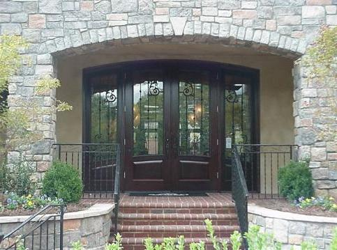 finishing of doorways with artificial stone