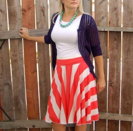 to sew a skirt with a sun