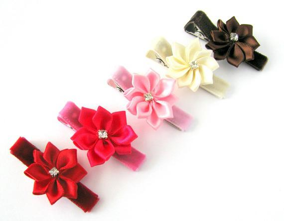 Satin ribbon kansai hairpin
