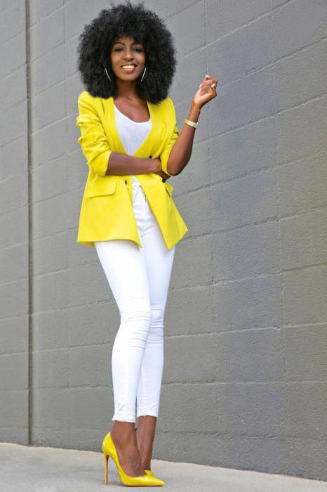 With what to wear a yellow jacket: interesting ideas, combinations and recommendations