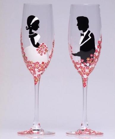 wedding glasses how to make yourself